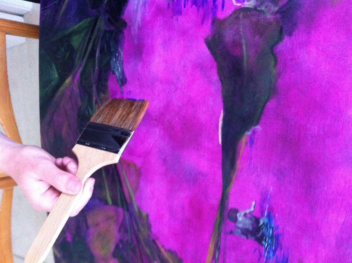Product Review : Flat Thin Ox Hair Lacquer Brush & Pure Sable Brights Oil Colour Brush Long Handle