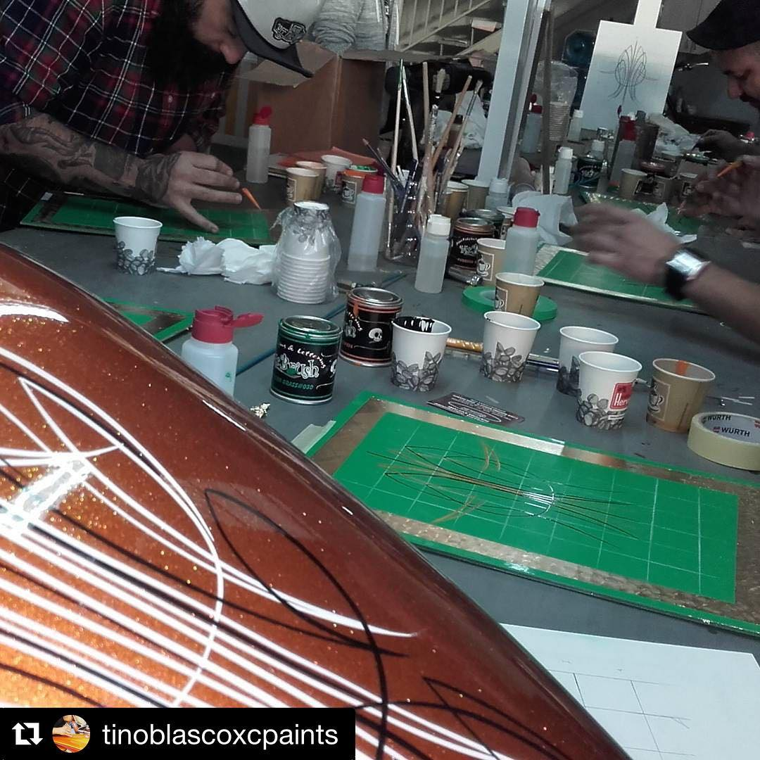 Learn to pinstripe this April with tinoblascoxcpaints and Mr Brushhellip