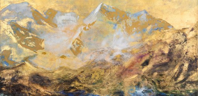Nancy Reyner: Gold leaf with Acrylic